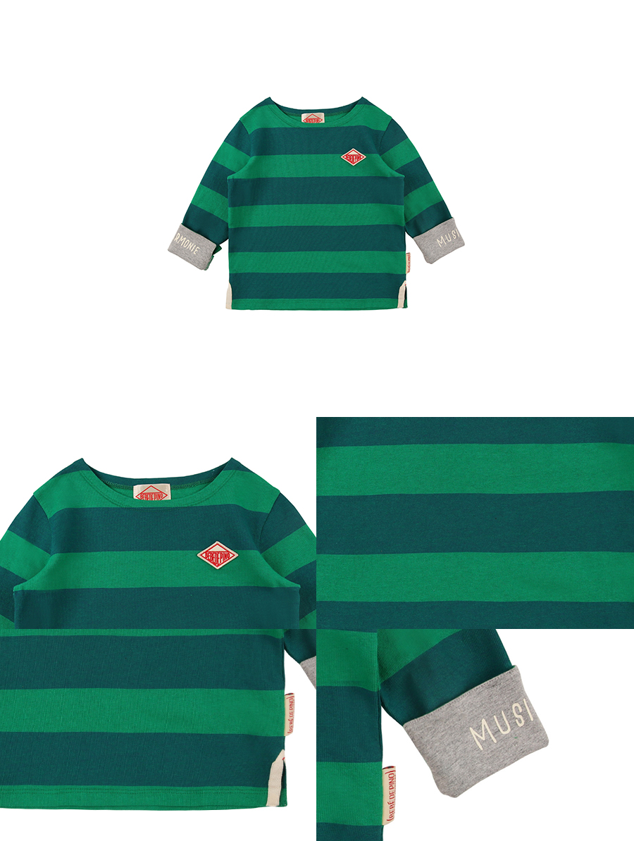 1914 bold stripe long sleeve tee 상세 이미지