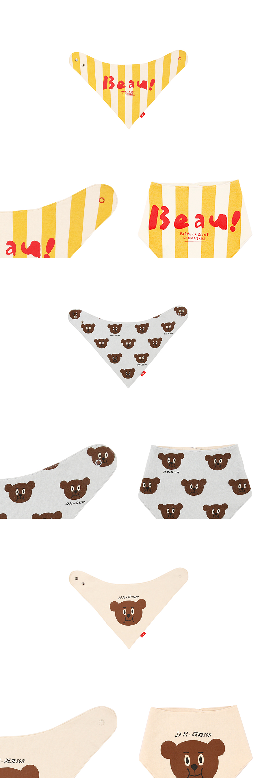 Bear baby scarf bib set 상세 이미지