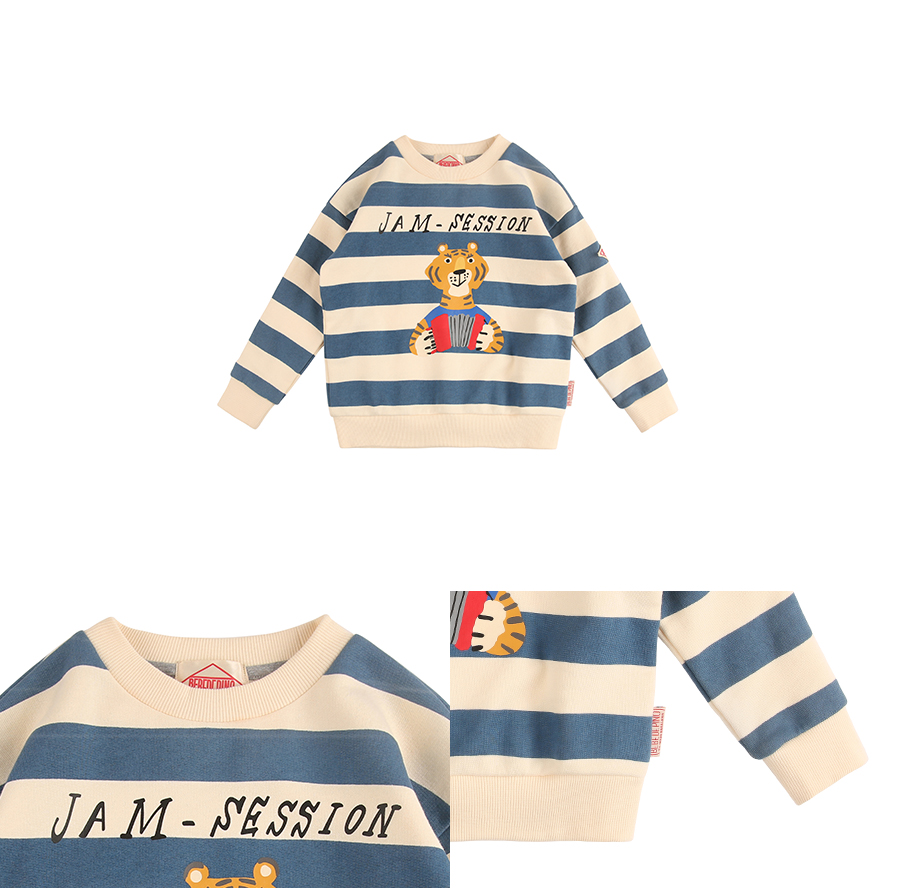Jam session bold striped sweatshirt 상세 이미지