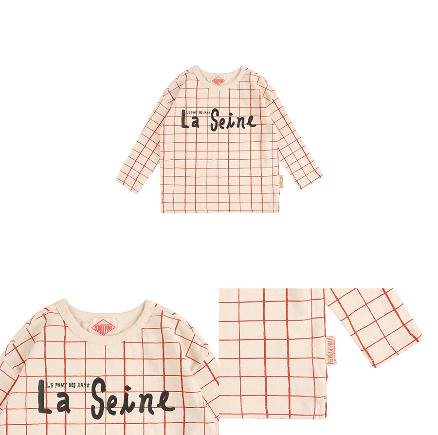 La seine check pattern long sleeve tee 상세 이미지