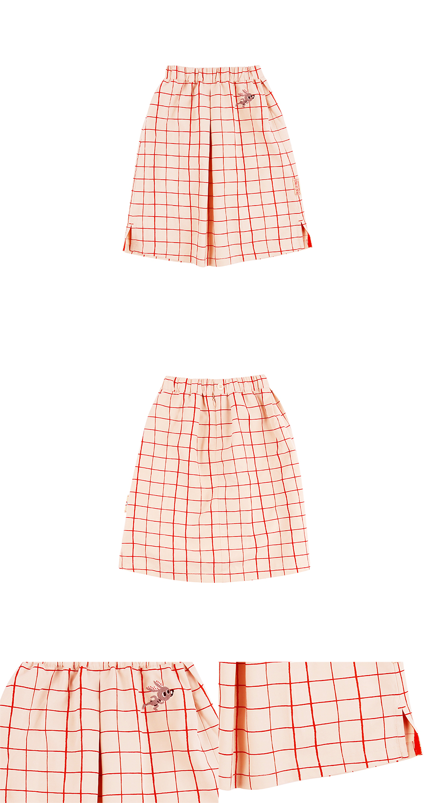 Rabbit checked pattern long skirt 상세 이미지