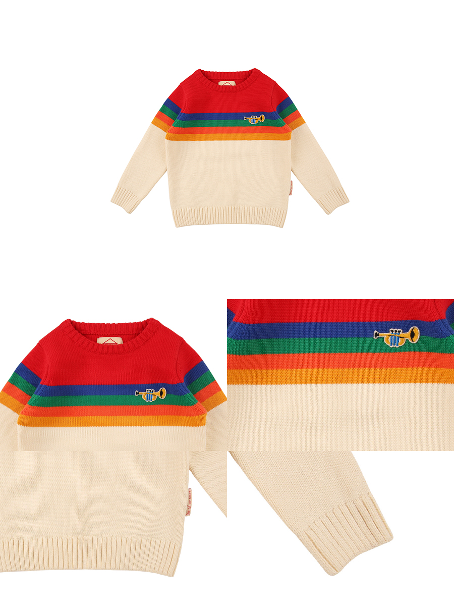 Rainbow trumpet sweater 상세 이미지