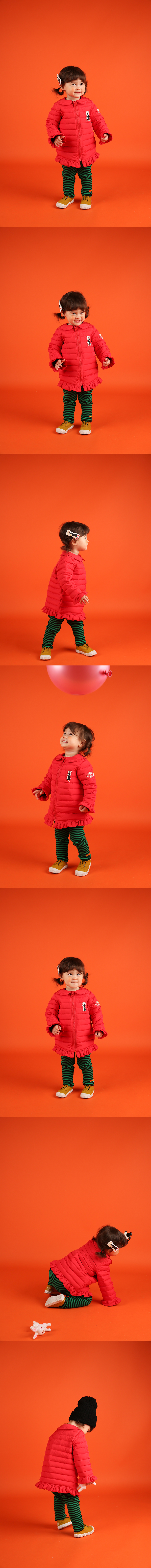 Scarlet baby quilted ruffle down jumper 상세 이미지