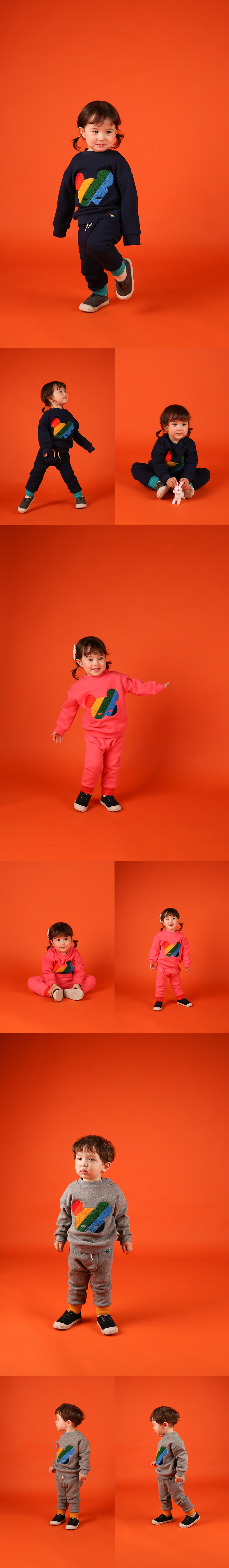 Basic baby rainbow pino fur jersey pants 상세 이미지