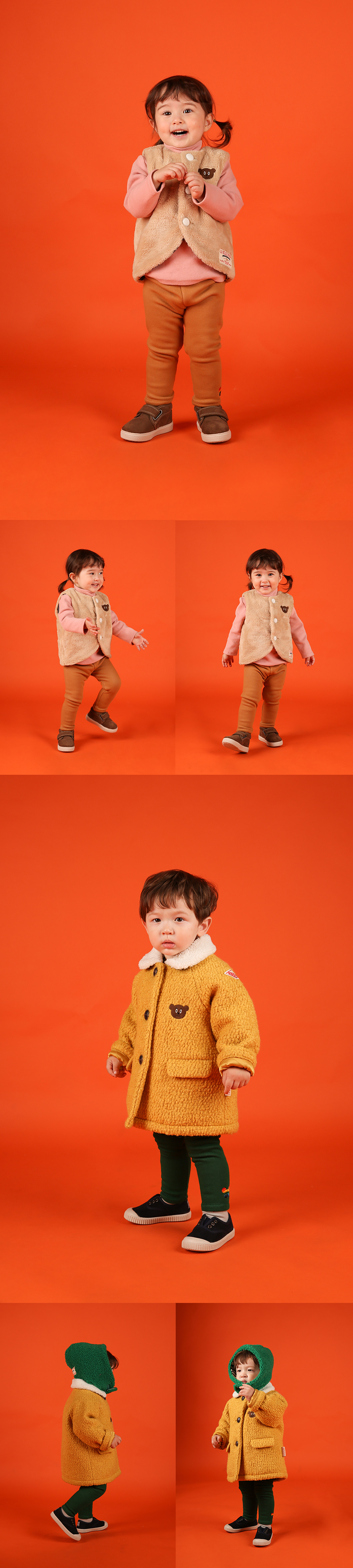 Basic baby rainbow pino fur leggings 상세 이미지