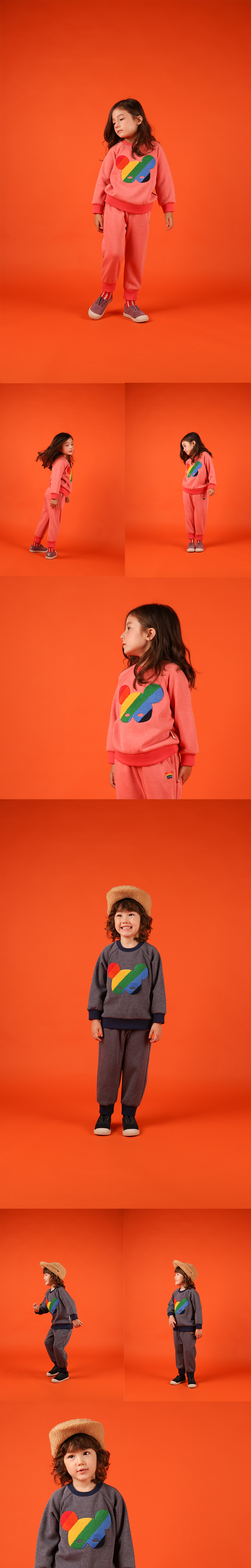 Basic rainbow pino fur sweatshirt 상세 이미지