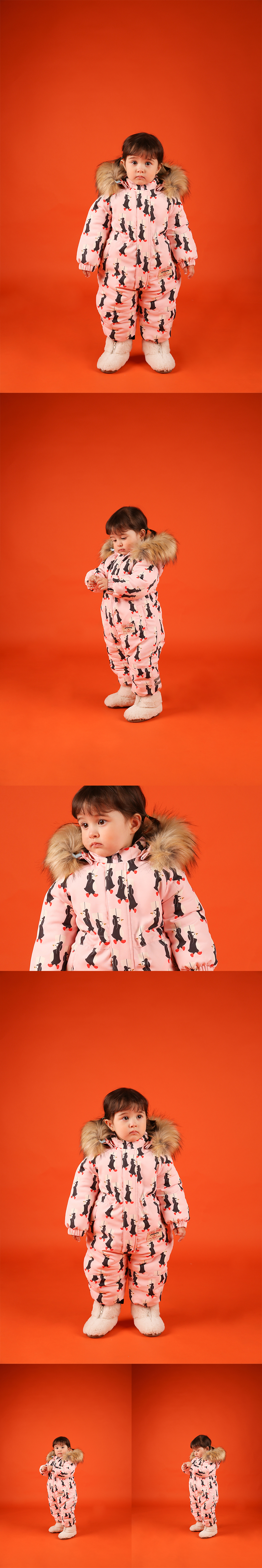 Multi penguin baby ski suit 상세 이미지