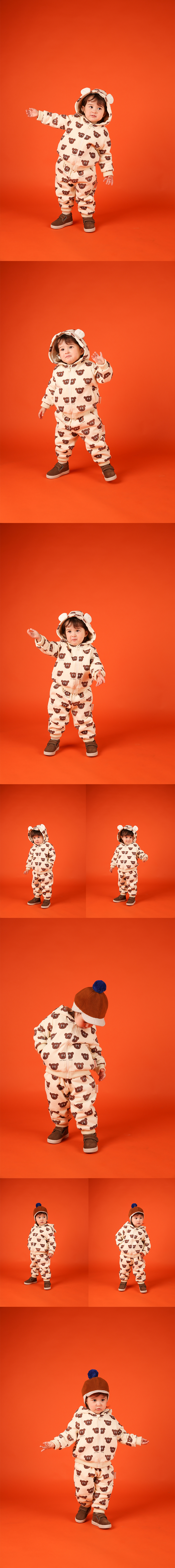 Multi willy bear baby boa fur zip up jacket 상세 이미지