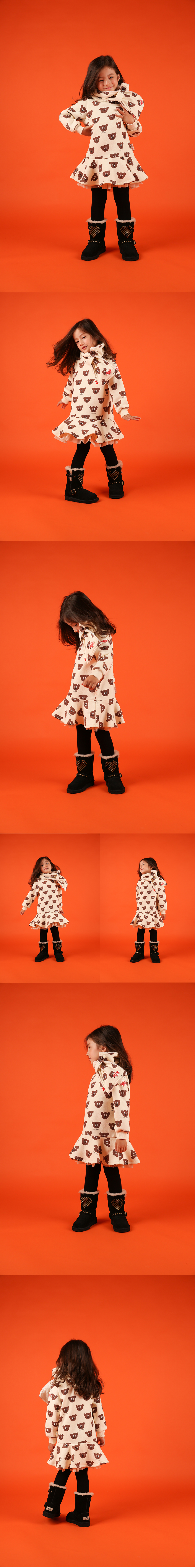 Multi willy bear tulle sweat dress 상세 이미지