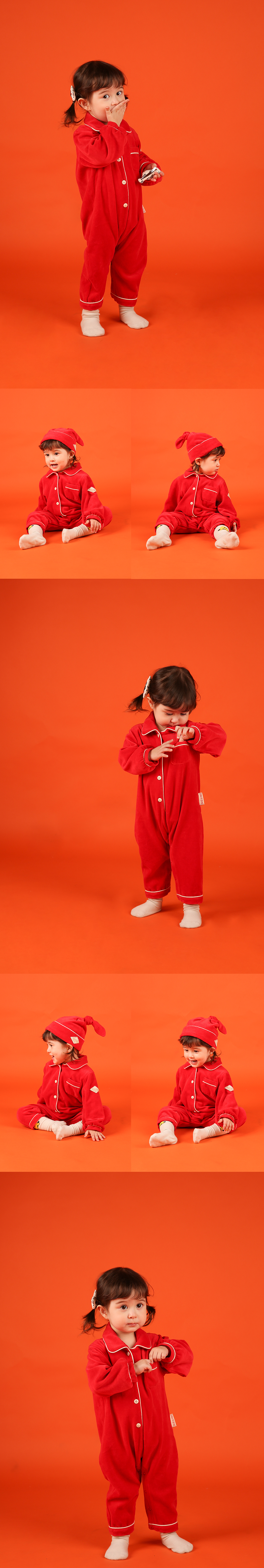Party baby velour overall set 상세 이미지
