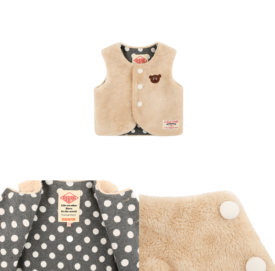 Willy bear baby fur vest 상세 이미지