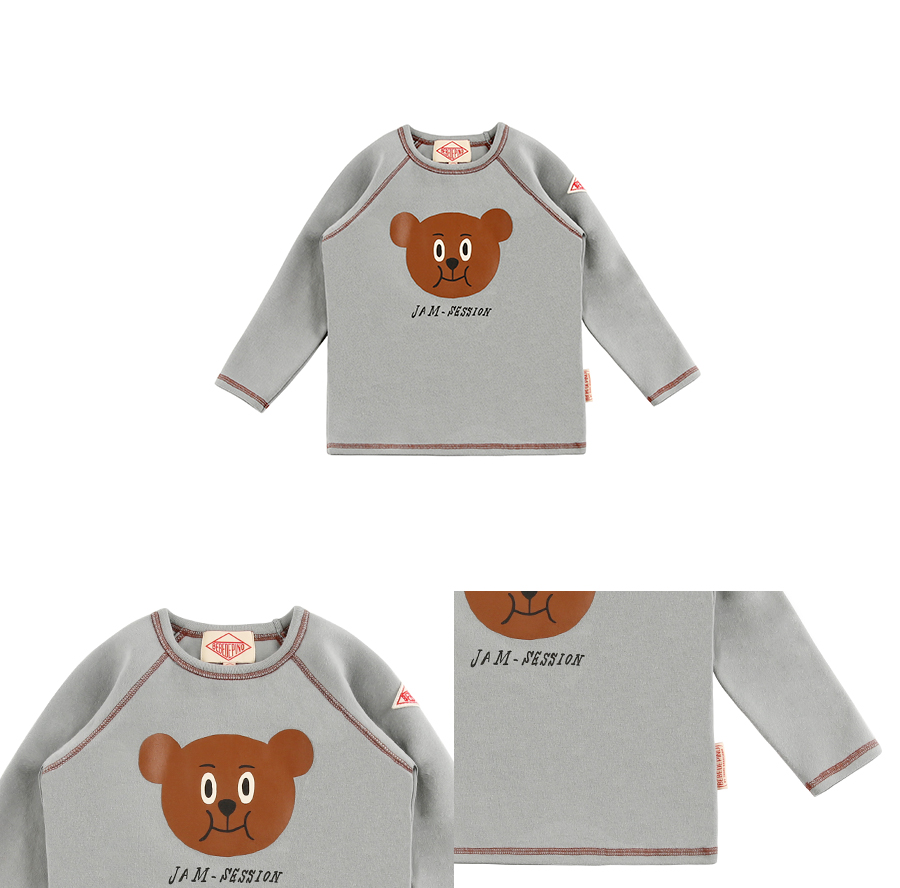 Willy bear raglan long sleeve tee 상세 이미지