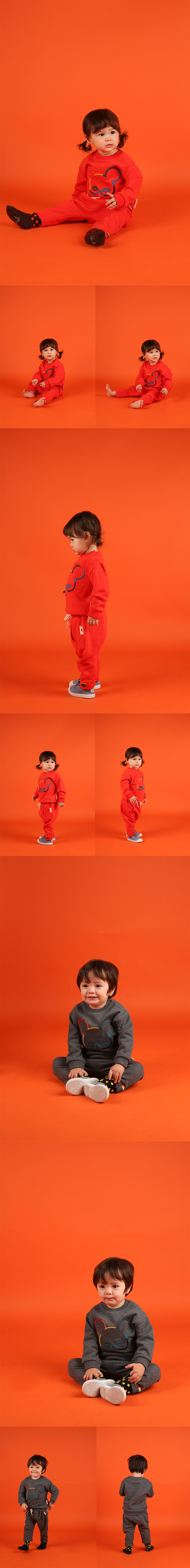 Basic baby rainbowpino sweatshirt 상세 이미지