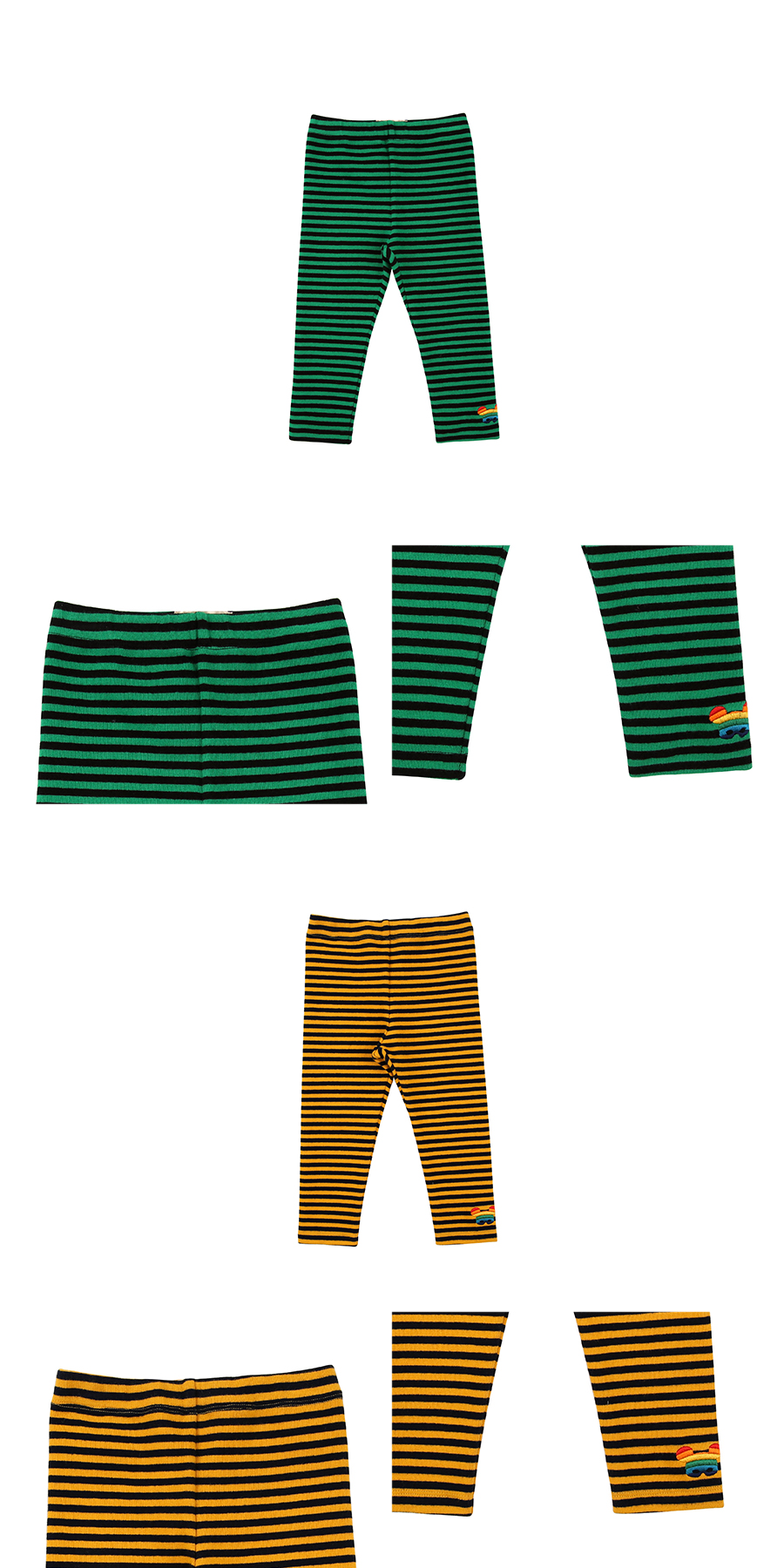 Basic baby stripe leggings 상세 이미지