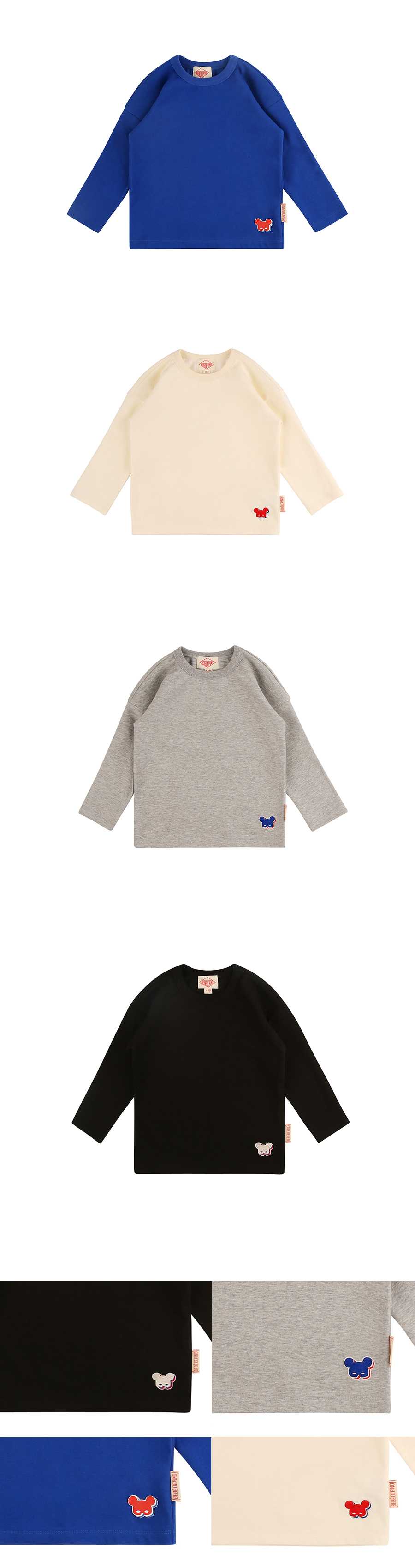 Basic shadow pino long sleeve tee 상세 이미지