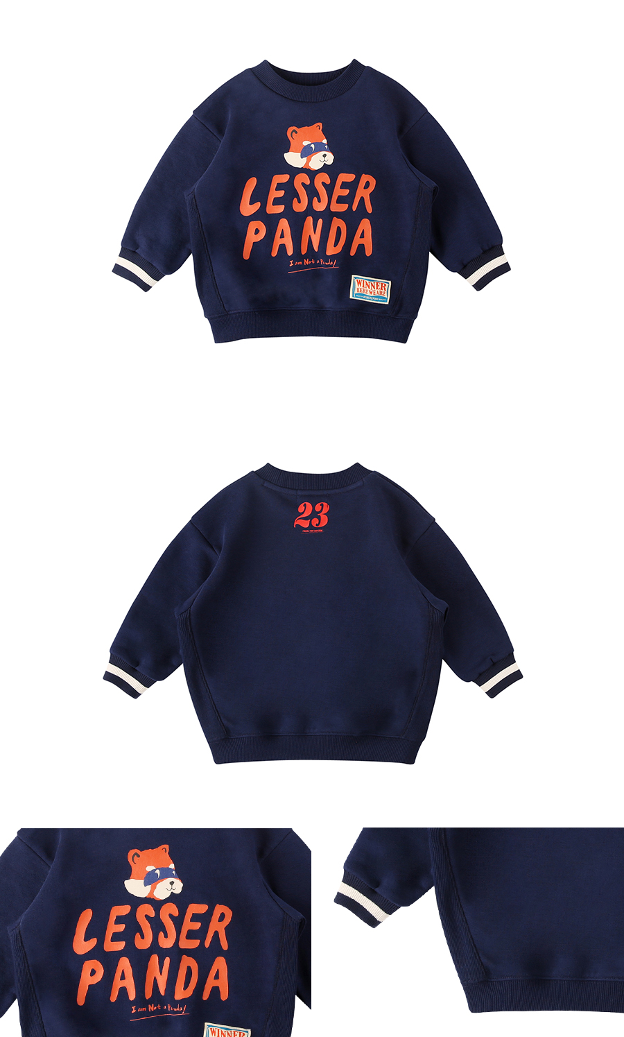 Lesser panda baby loose fit sweatshirt 상세 이미지