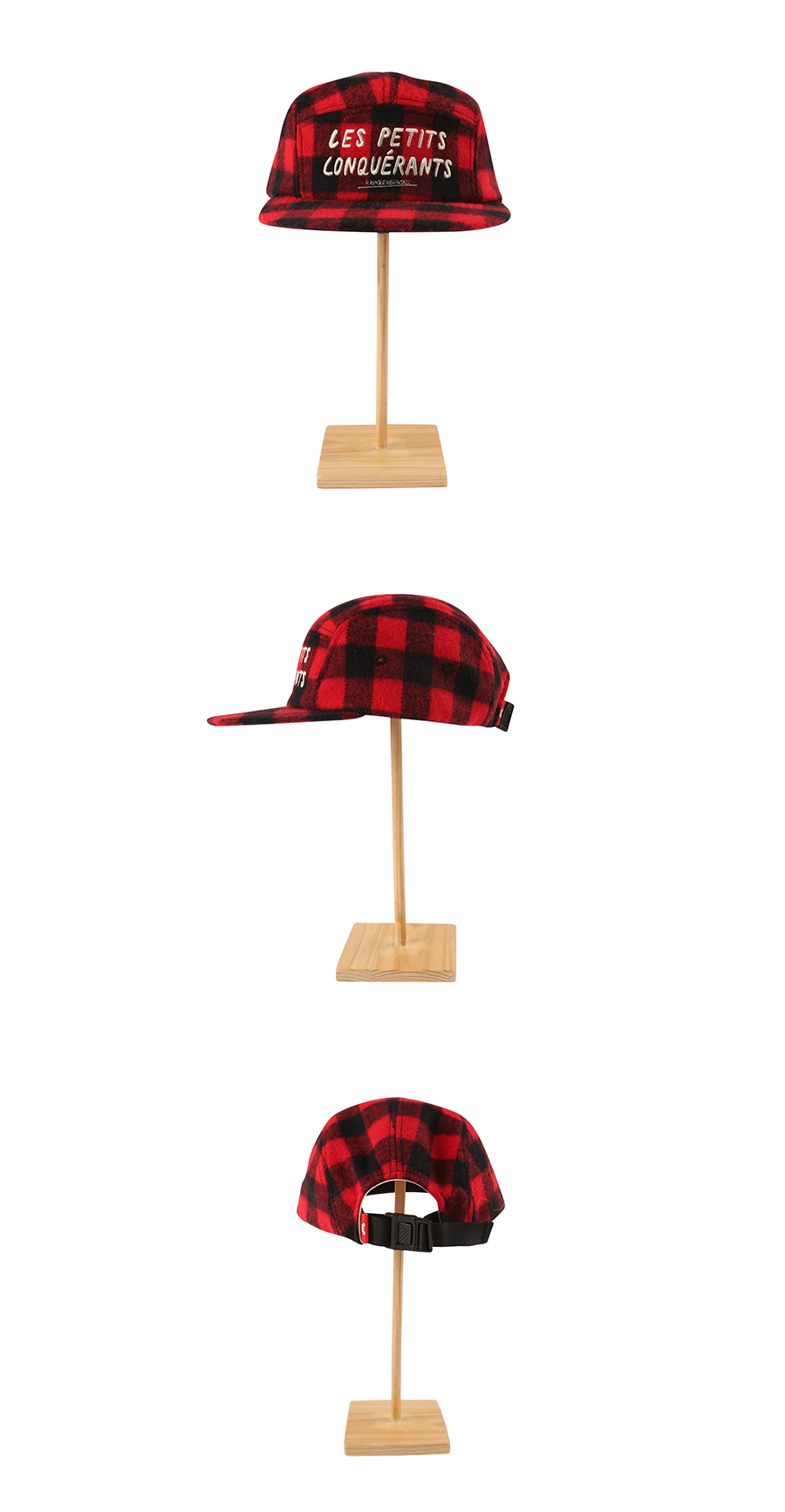 Letter embroidery check camp cap 상세 이미지
