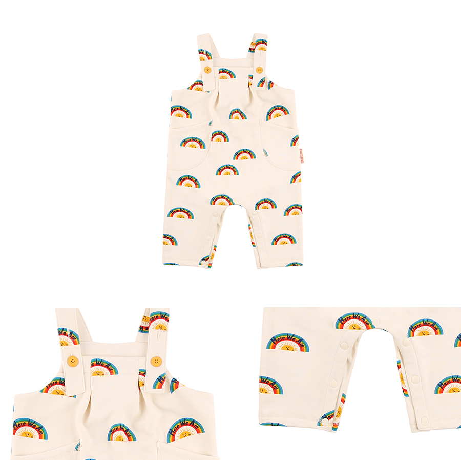 Multi rainbow baby jersey playsuit 상세 이미지
