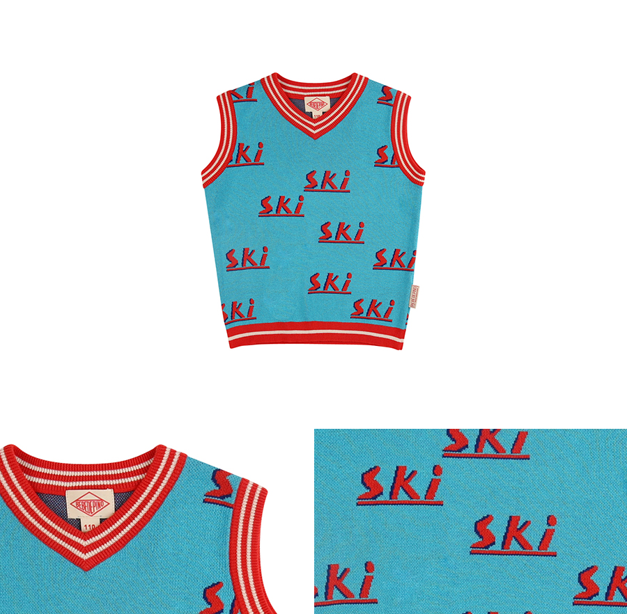 Multi ski color block sweater vest 상세 이미지