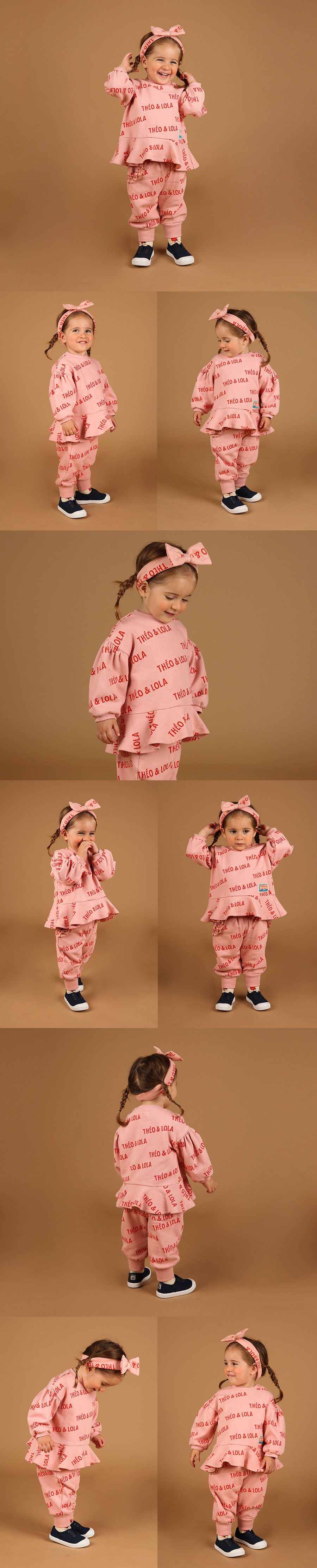 Multi theo and lola baby ruffle pants 상세 이미지