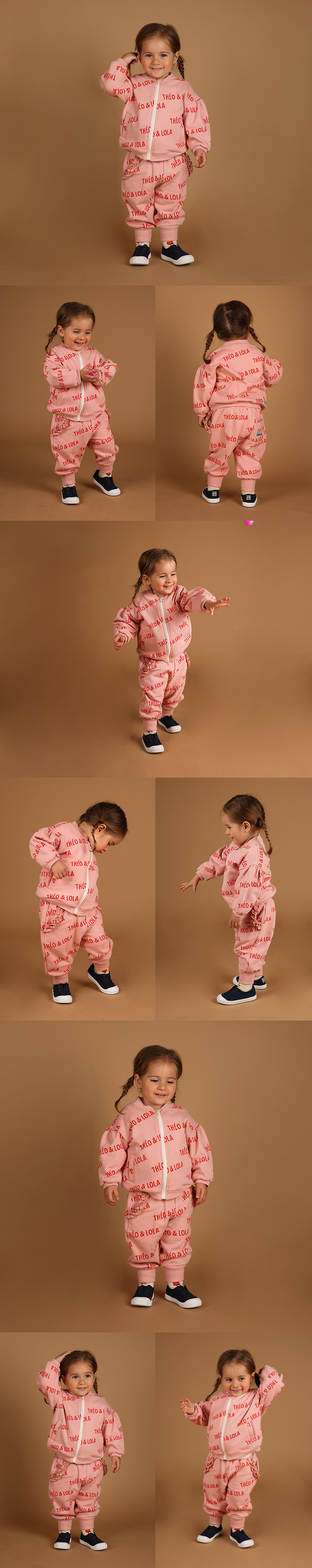 Multi theo and lola baby volume zip up jacket 상세 이미지