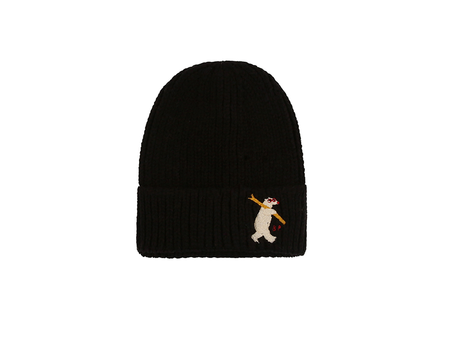 Polar bear black beanie 상세 이미지