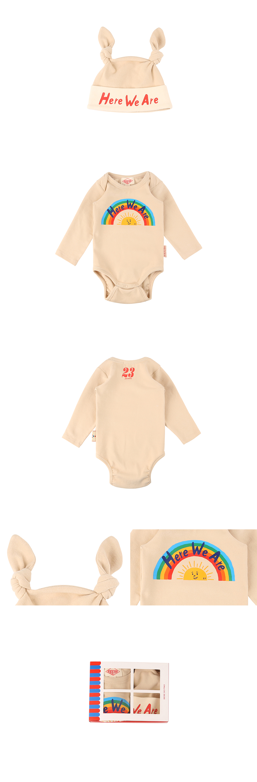 Rainbow baby bodysuit set 상세 이미지