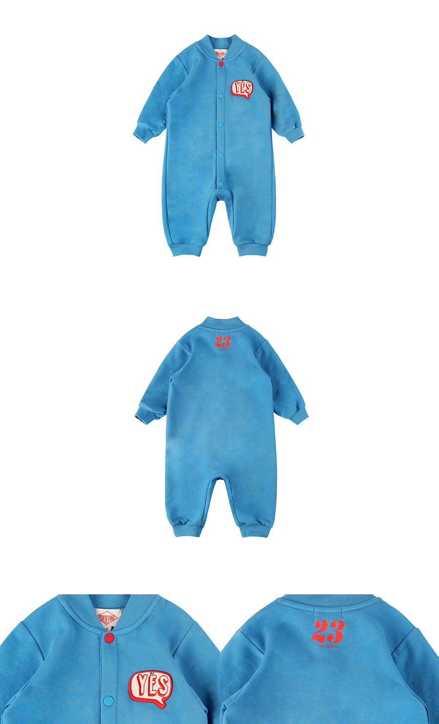 Yes wappen baby blue overall 상세 이미지