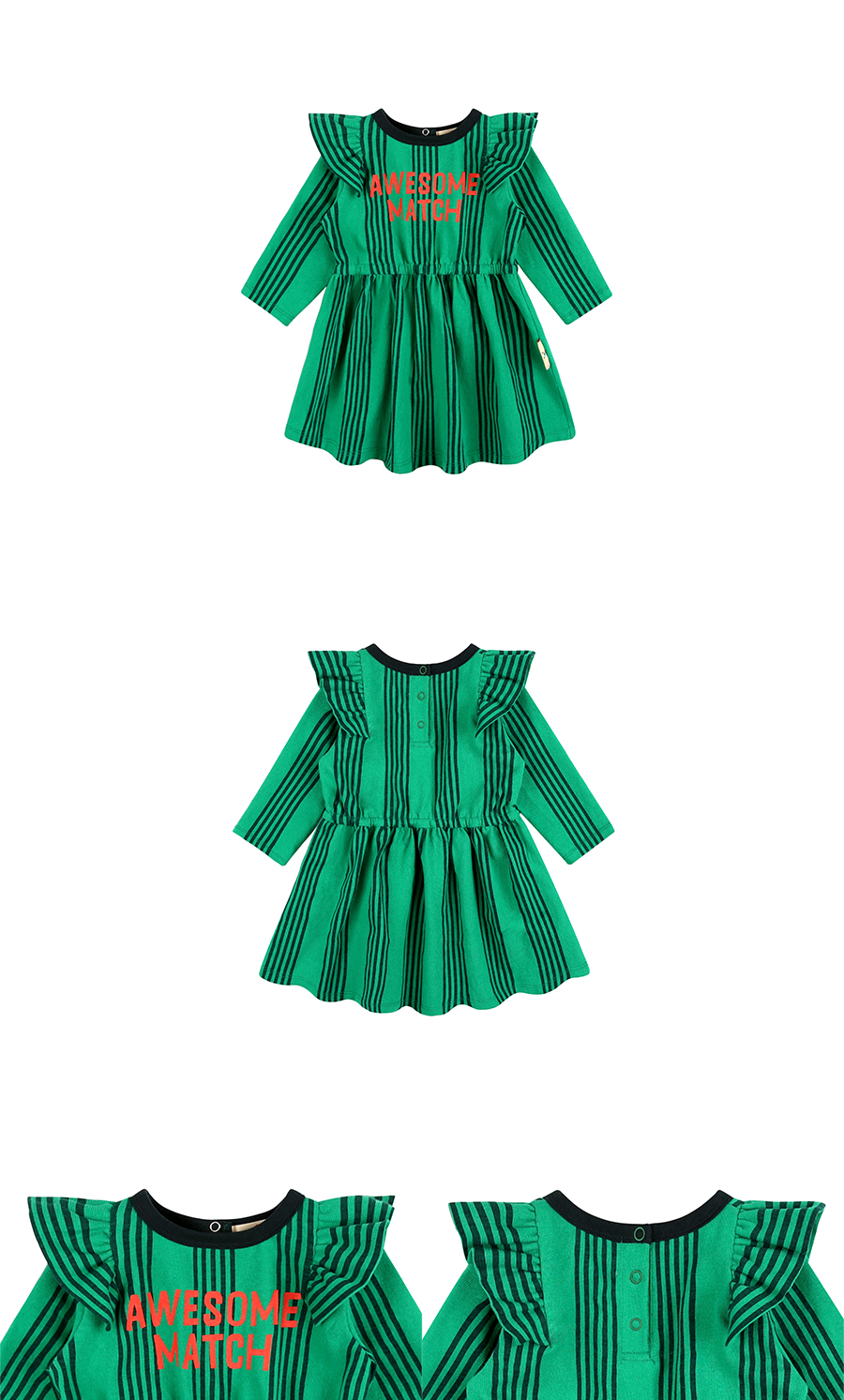 Awesome match baby ruffle dress 상세 이미지