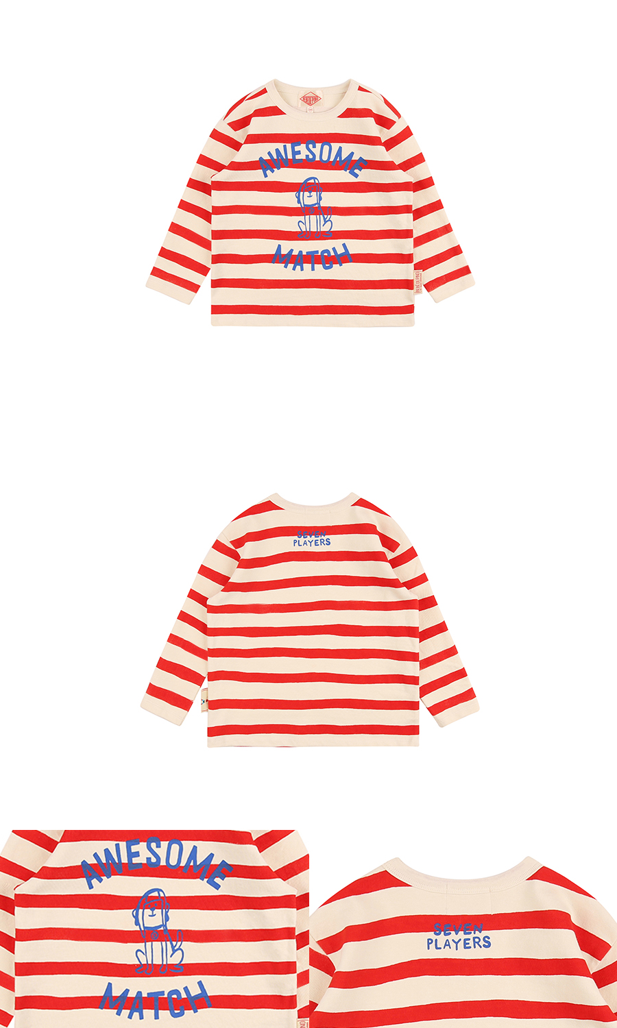 Awesome match puppy stripe long sleeve tee 상세 이미지