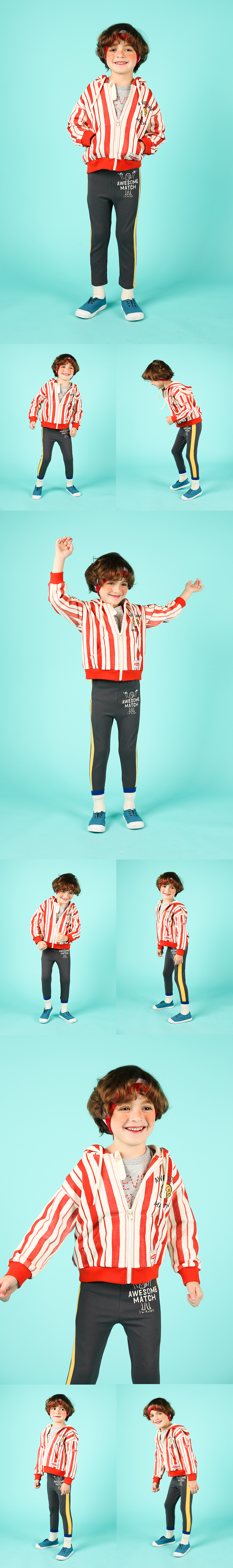 Awesome match side color block leggings 상세 이미지