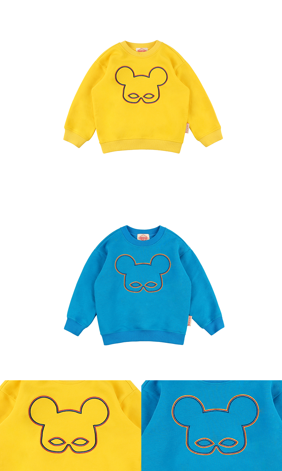 Basic edge rainbow pino sweatshirt 상세 이미지