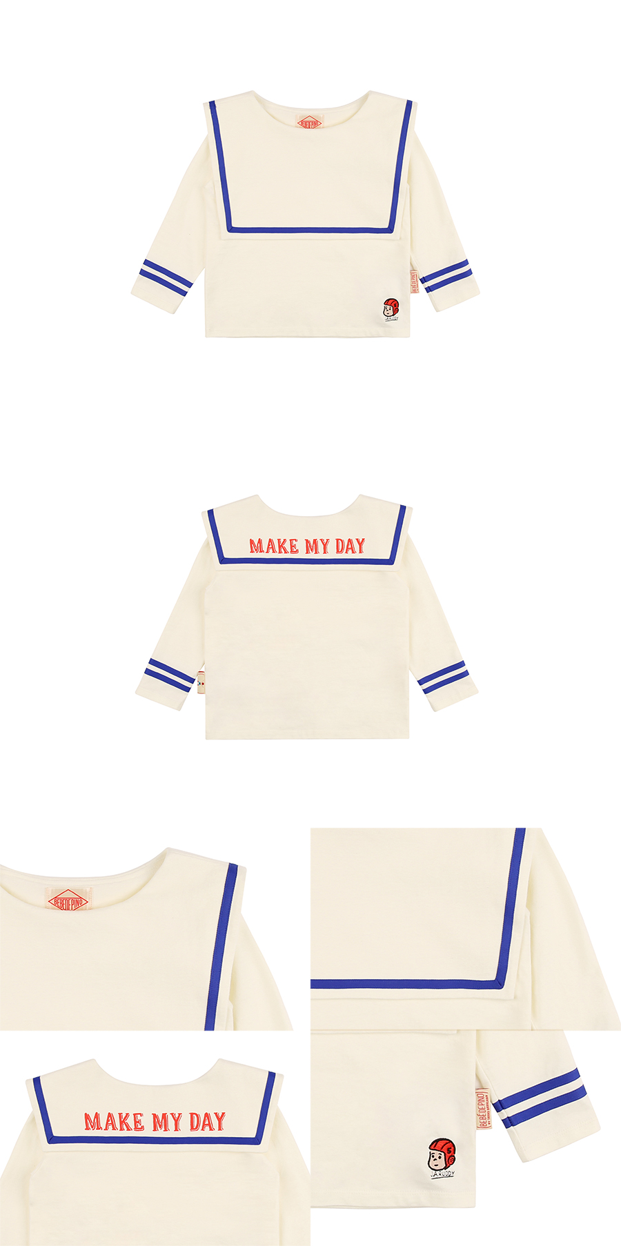 Make my day marine long sleeve tee 상세 이미지