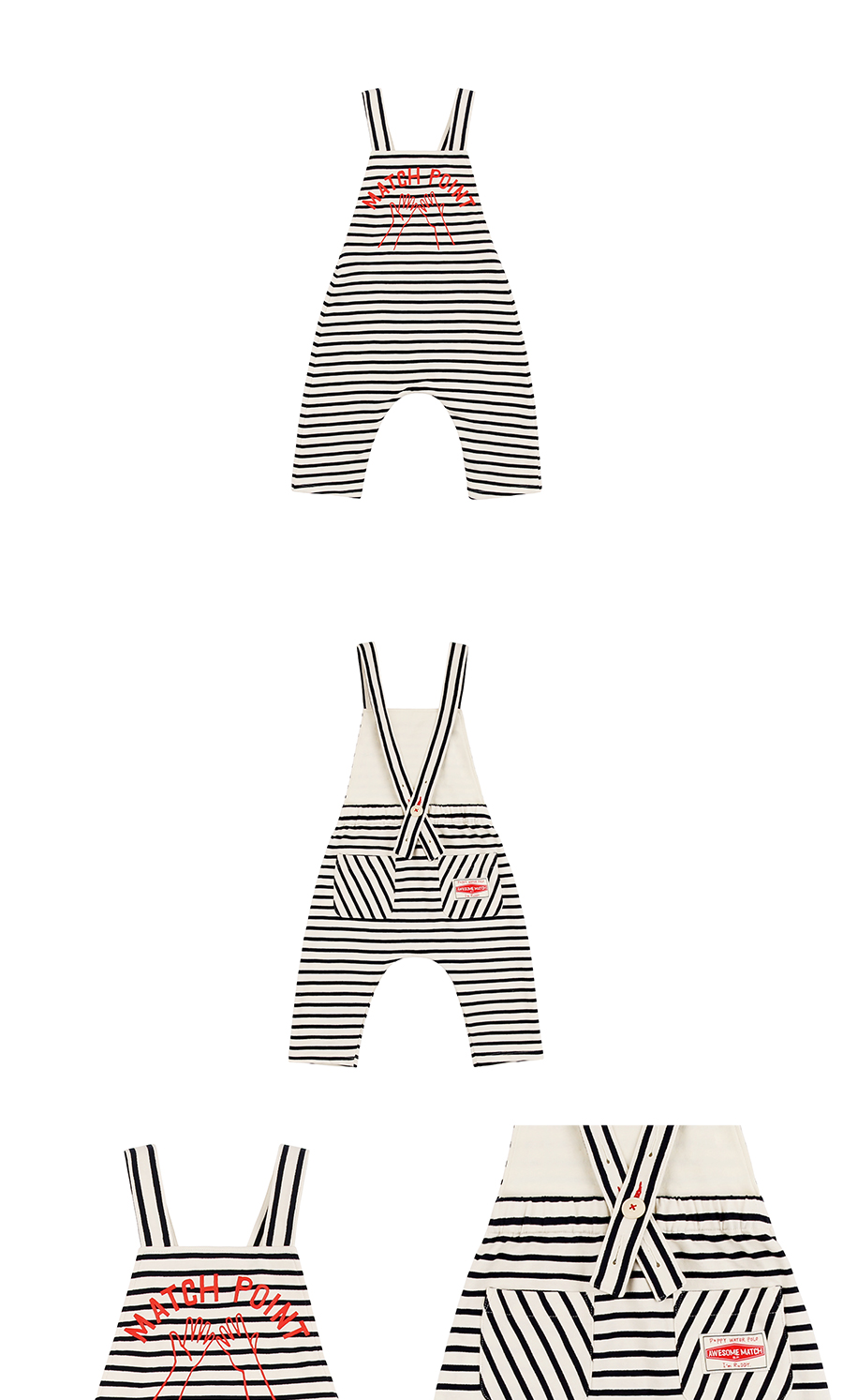 Match point baby stripe overall 상세 이미지