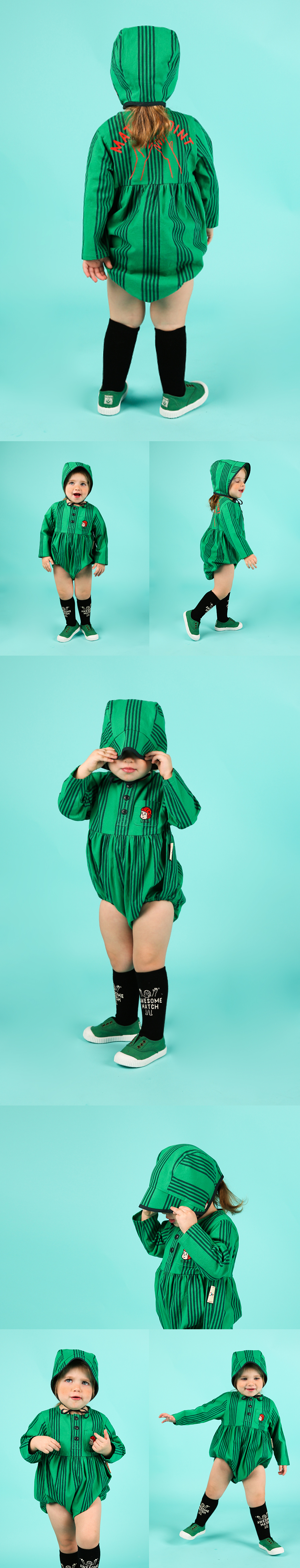 Match point baby stripe suit set 상세 이미지
