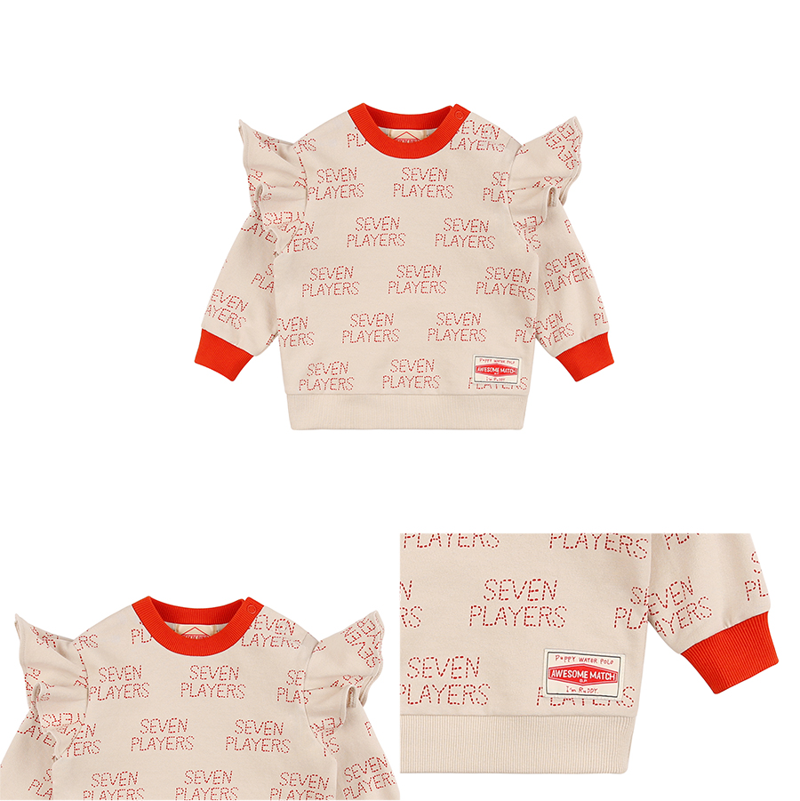 Multi seven players baby ruffle sweatshirt 상세 이미지