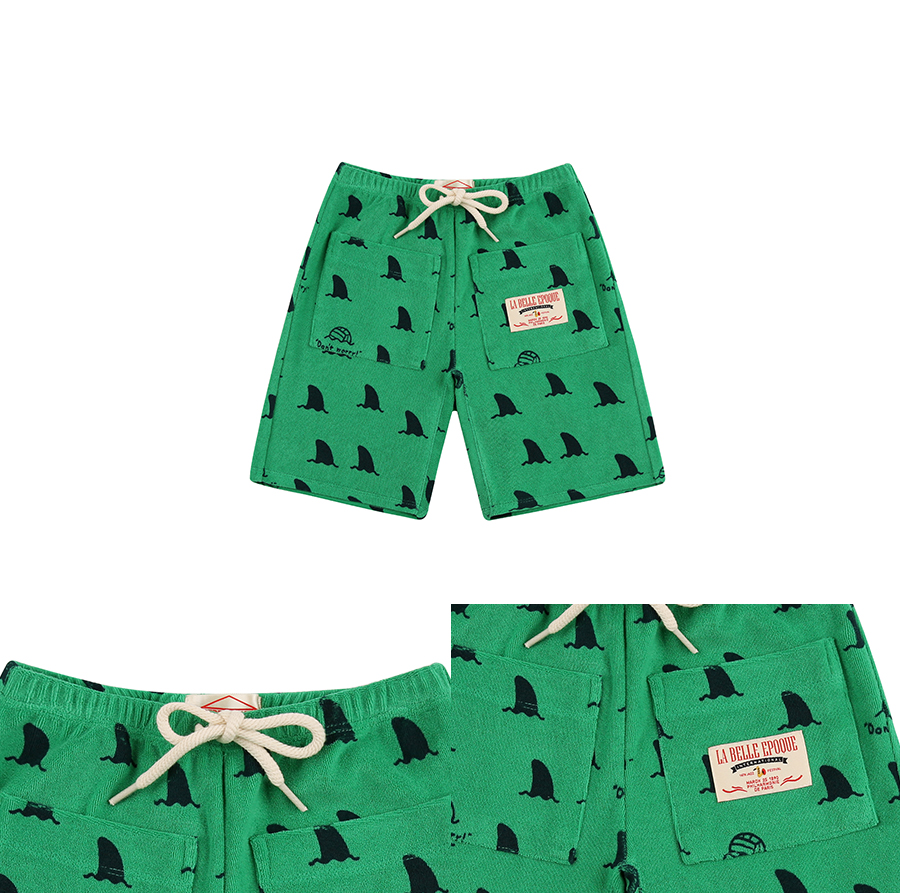 Multi shark terry shorts 상세 이미지
