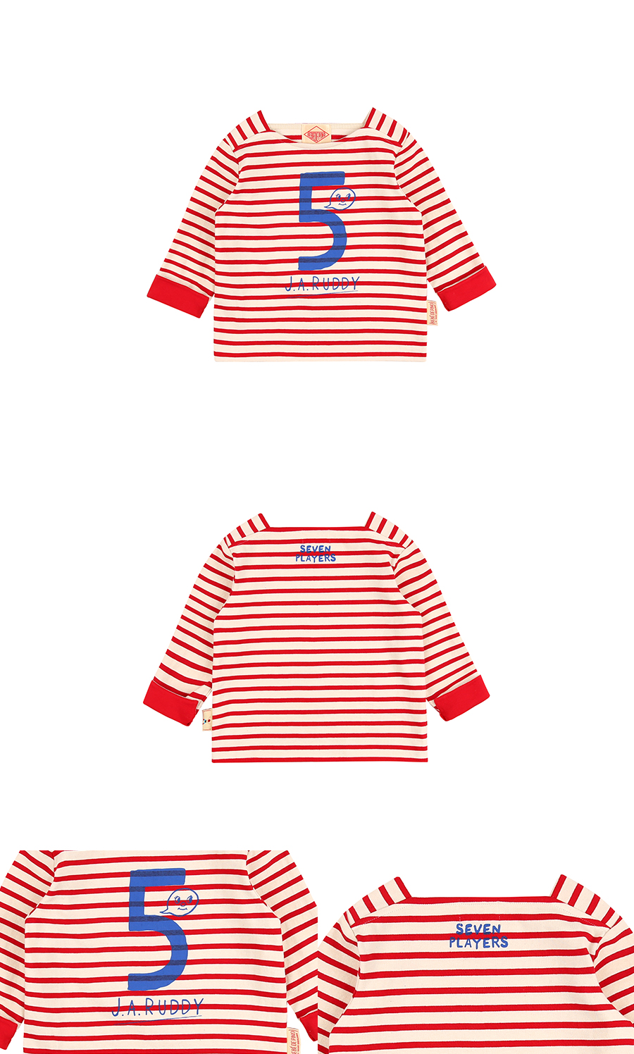 Number 5 Ruddy square neck long sleeve tee 상세 이미지