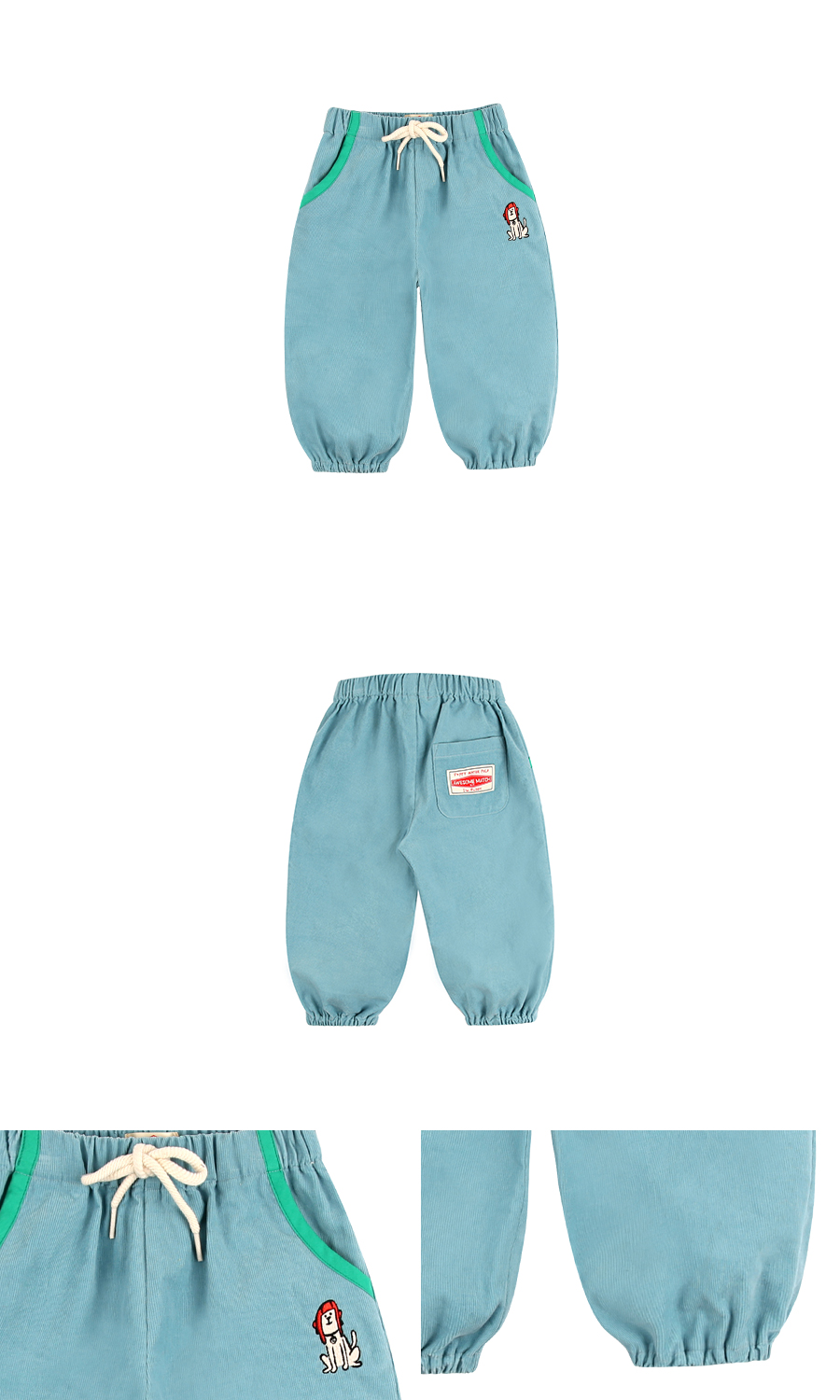 Puppy baby corduroy pants 상세 이미지