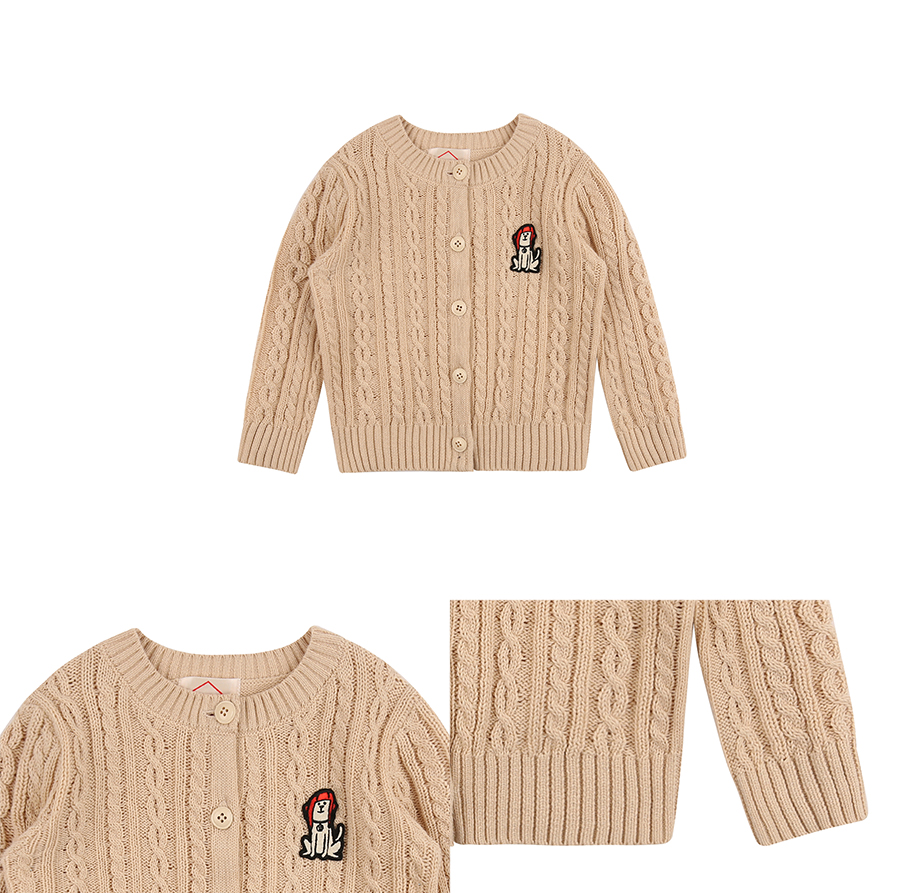 Puppy baby cotton cable cardigan 상세 이미지