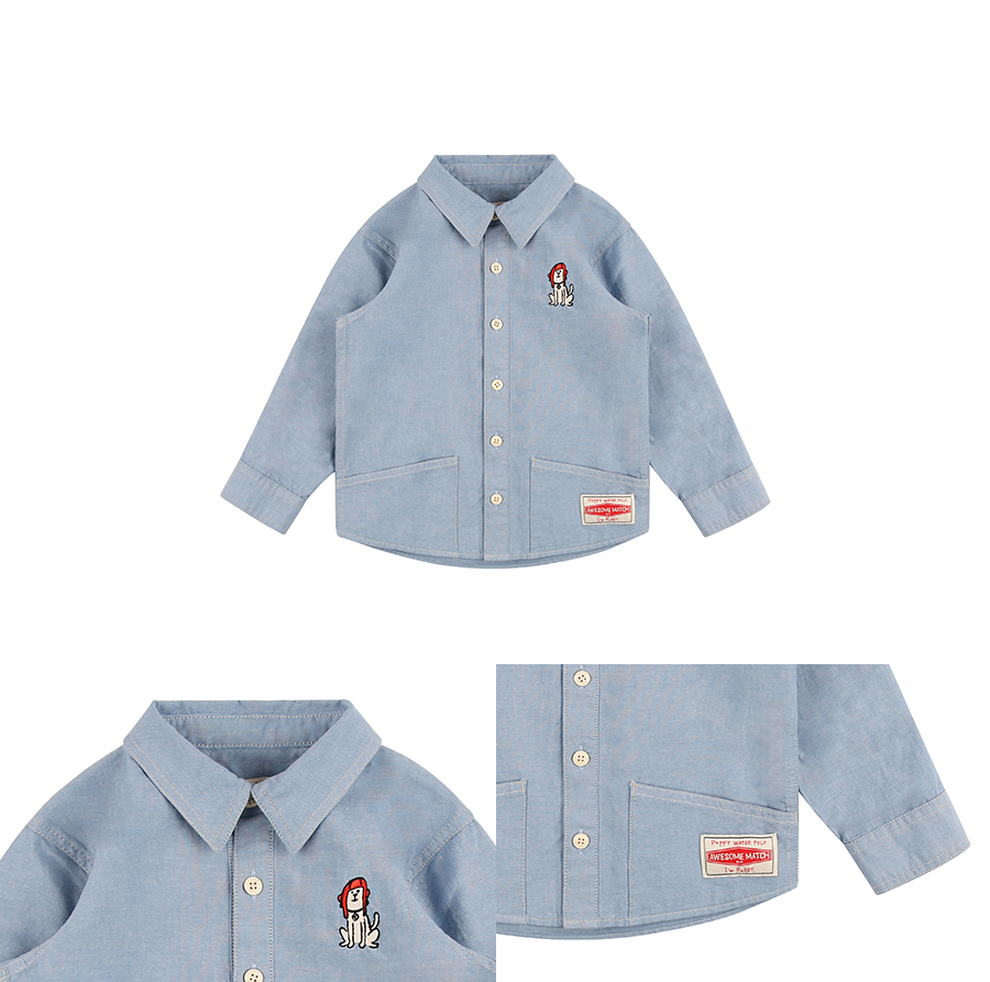 Puppy out pocket oxford shirt 상세 이미지