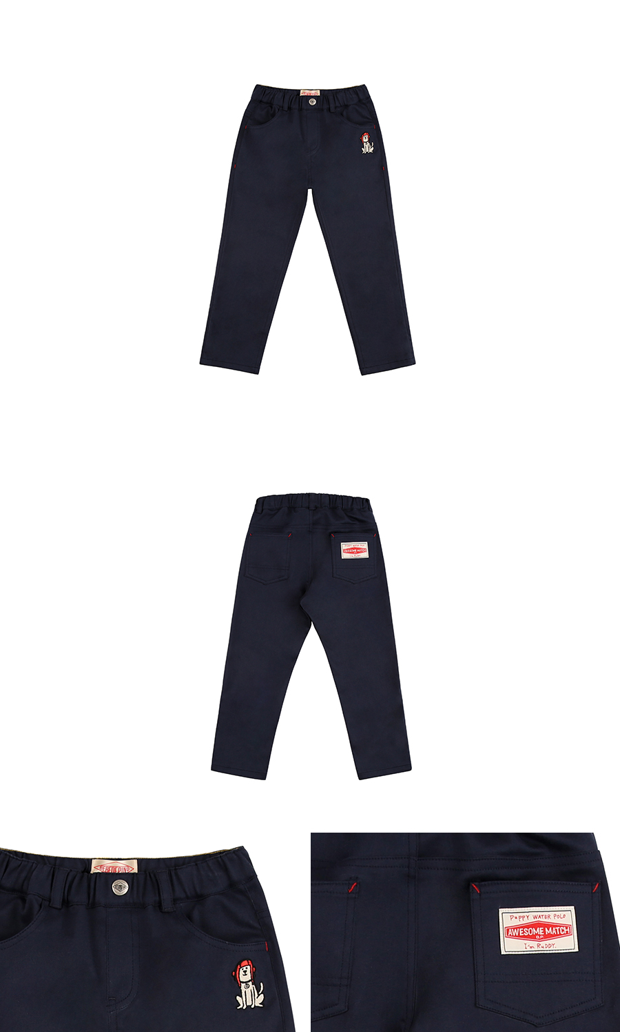 Puppy straight fit cotton twill pants 상세 이미지