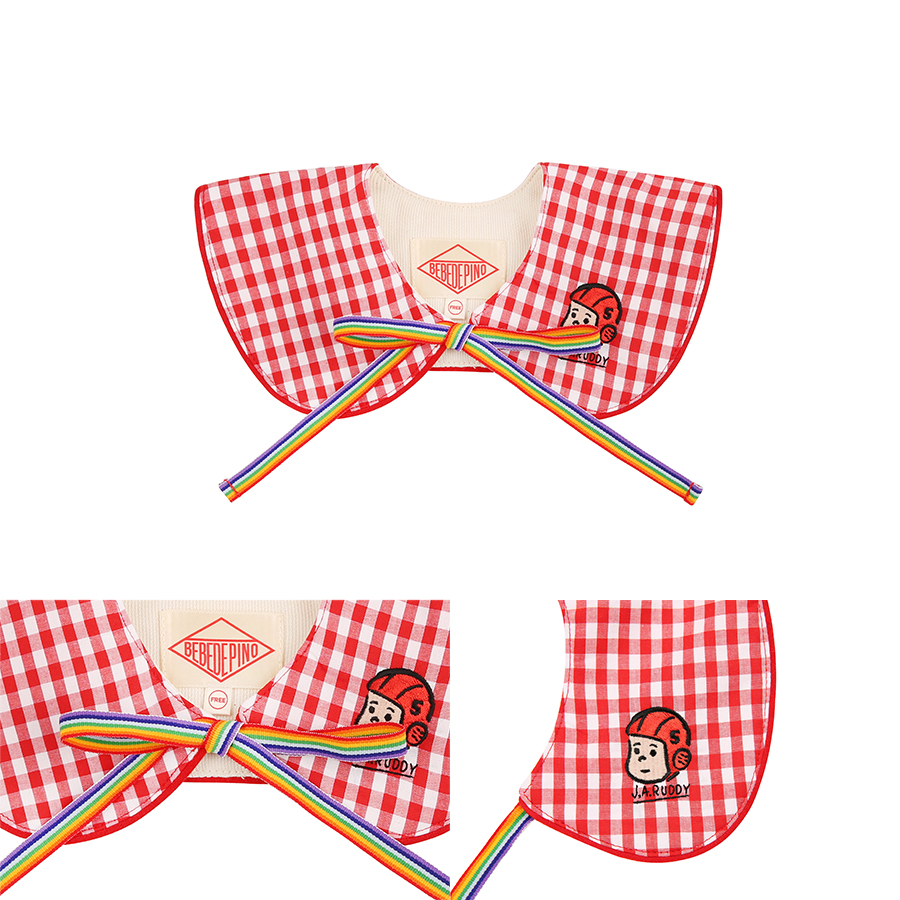 Ruddy baby gingham check collar 상세 이미지