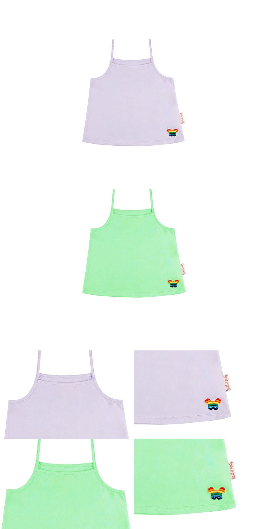 Basic rainbow pino camisole tank top 상세 이미지