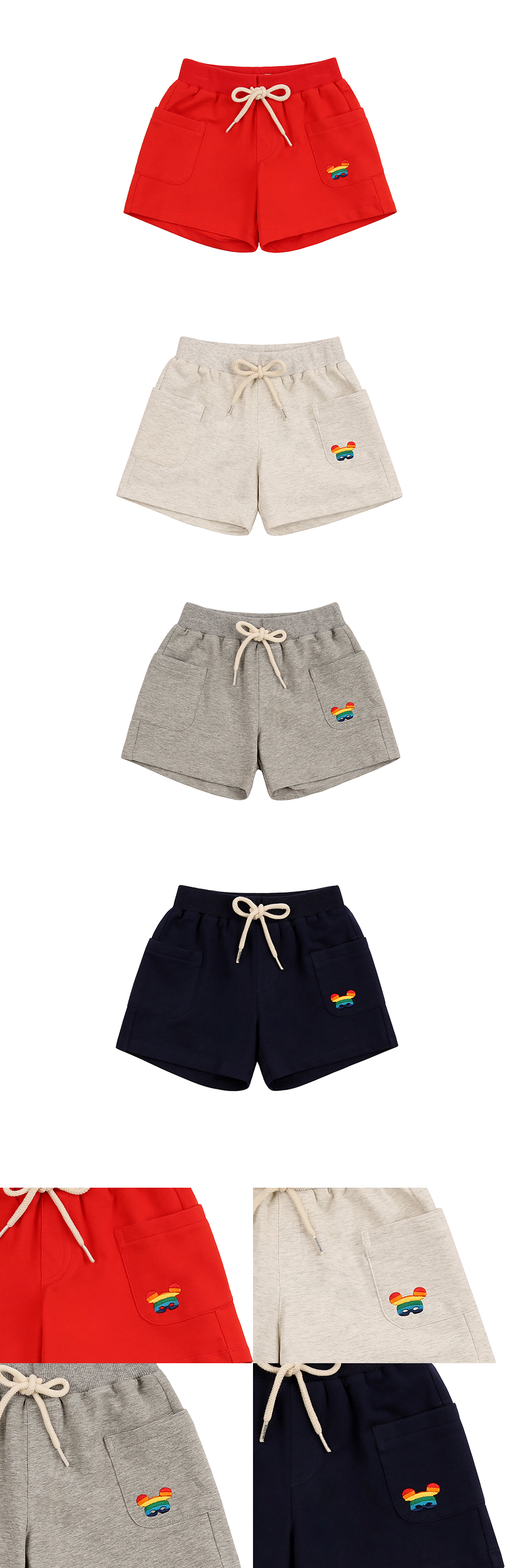 Basic rainbow pino jersey shorts 상세 이미지