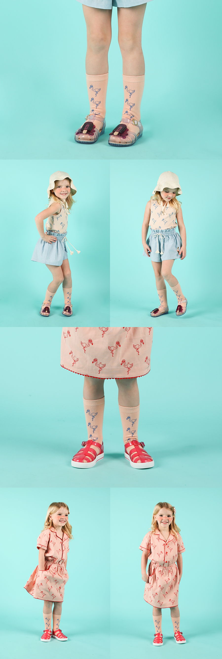 Flamingo knee socks 상세 이미지