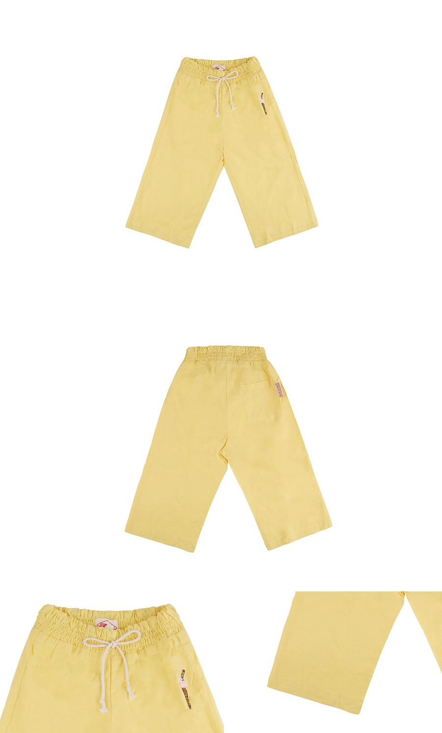 Ice cream cone ruffle ankle pants 상세 이미지