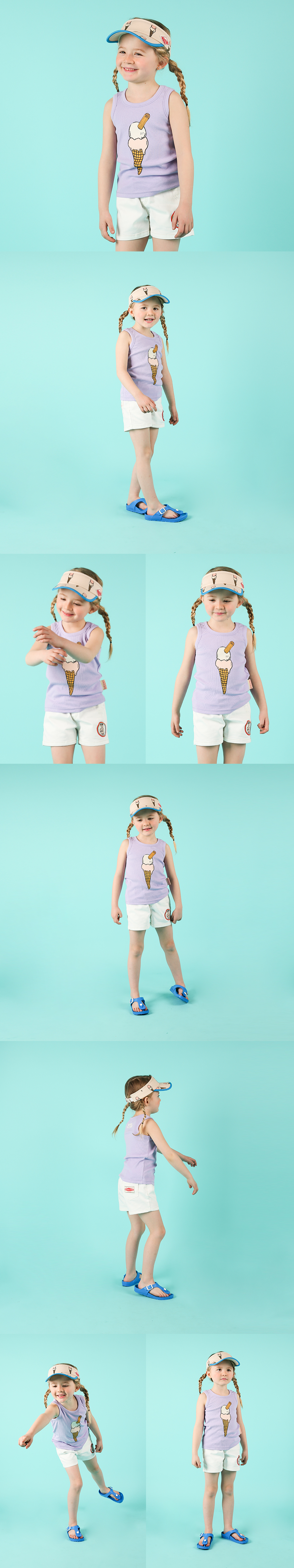 Ice cream cone tank top 상세 이미지