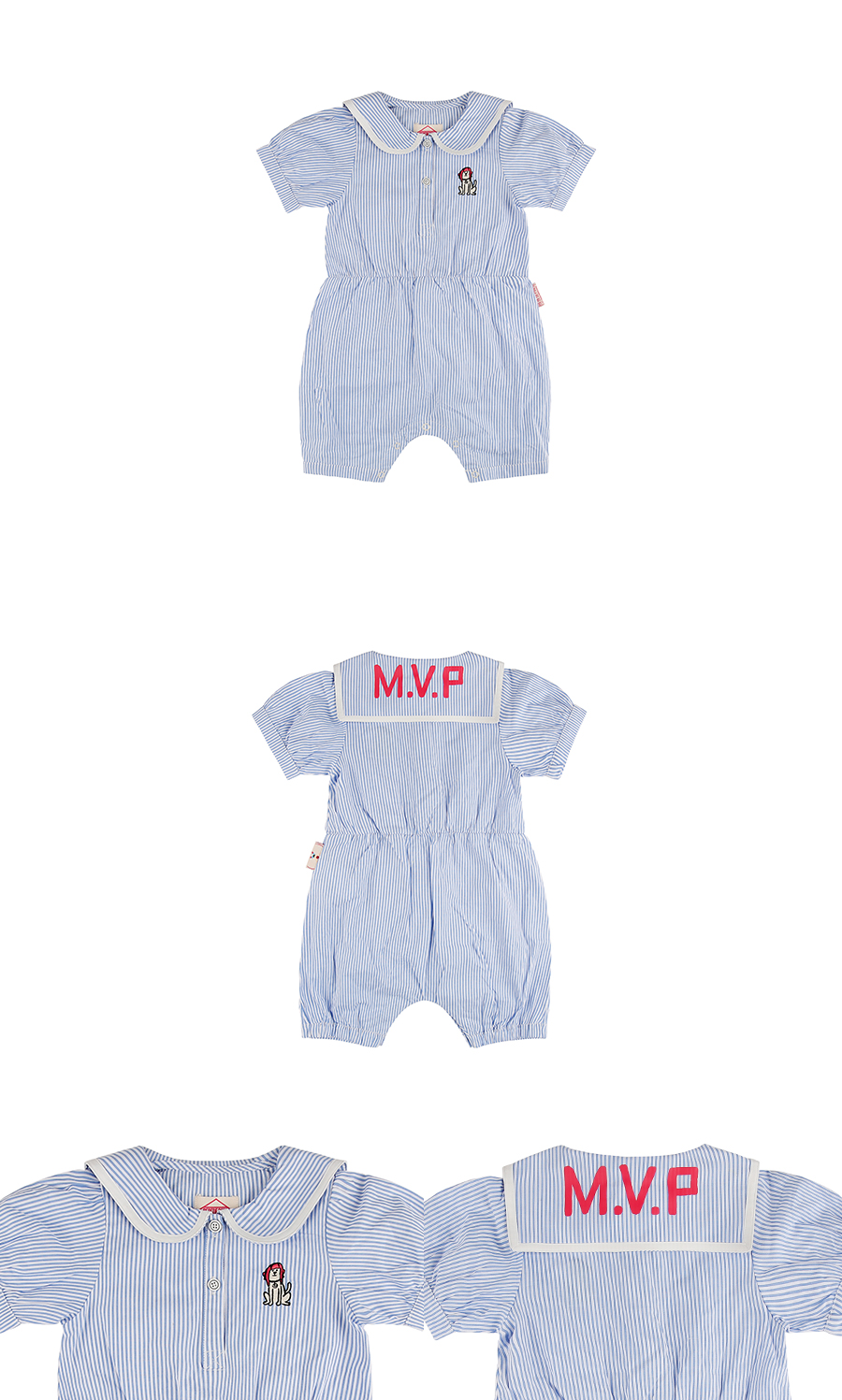 MVP sailor collar baby summer overall 상세 이미지