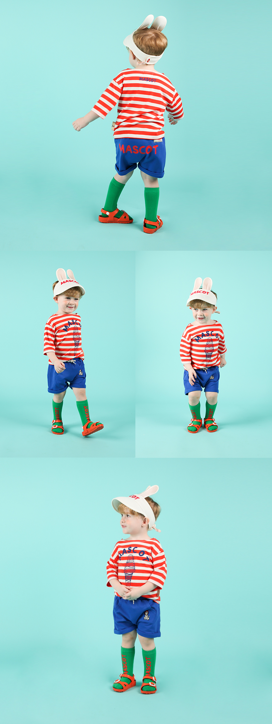 Mascot baby big pocket short pants 상세 이미지